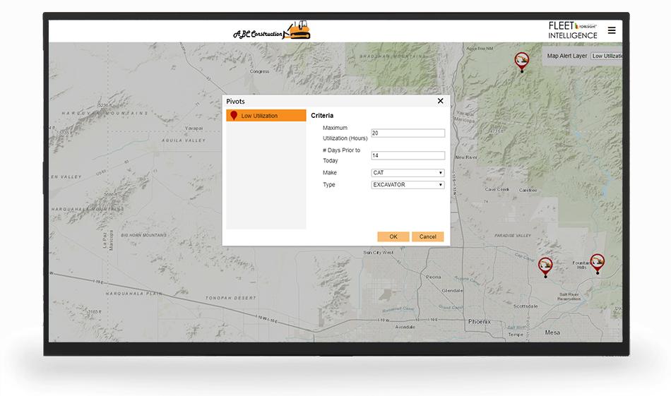 fleet management software - map view